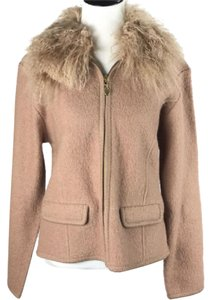 Lisa International Boiled Wool Fur Coat