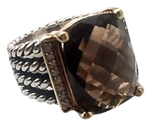 David Yurman Beautiful Piece - Large Smokey Quartz Wheaton RIng David Yurman