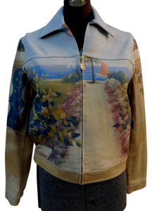 St. John Multi Womens Jean Jacket