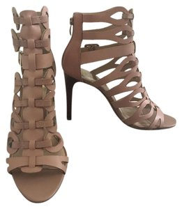 Vince Camuto Stiletto Pink Leather Sandbar Pink Sandals