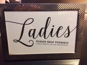 Framed Sign For Men's & Ladies Bathroom