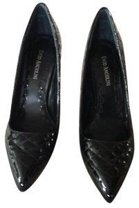 Enzo Angiolini Patent Leather Quilted New Black Pumps