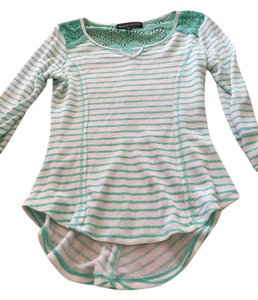 Almost Famous Clothing #stripes #blouse #knit #lace #almost Tunic