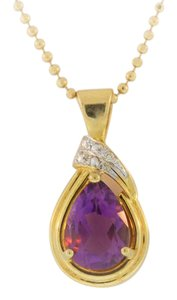 Other Antique Pear Cut Amethyst-14k Yellow Gold