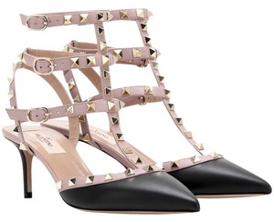Valentino Rockstud Studded Ankle Strap New Black Pumps
