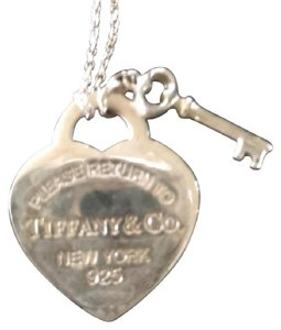 Tiffany & Co. heart and key necklace, Sterling Silver
