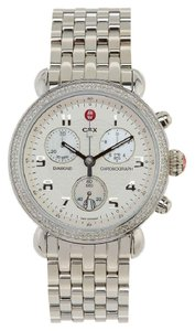 Michele NWT 'CSX 39' Diamond Chronograph Stainless Steel Watch MWW03D000014