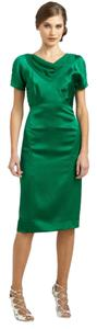 Zac Posen Silk Cowl Dress