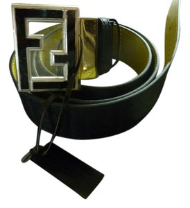 Fendi FENDI $550 Men's Reversible Iconic 'Zucca' Print Logo Belt One-Size