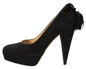 Oscar de la Renta Pumps Suede Tassle Classic black Formal