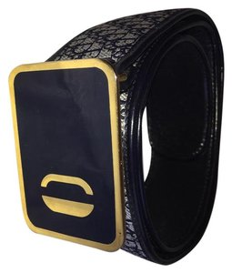 Dior Square Buckle Canvas and Leather