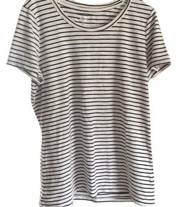 Mossimo Supply Co. T Shirt white with black stripes