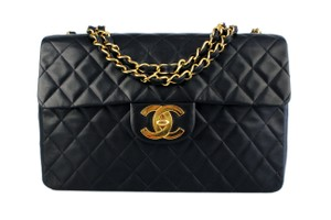 Chanel Front Flap Maxi Vintage Chain Quilted Shoulder Bag