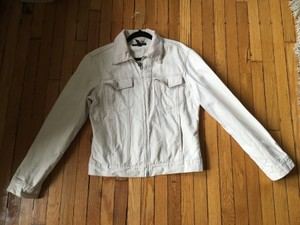 Club Monaco Ivory Womens Jean Jacket