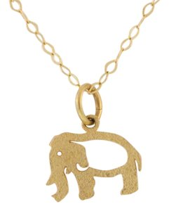 Other Antique Chiseled Elephant Pendant-14k Yellow Gold