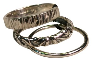 Silpada Set of 3 rings Sterling silver