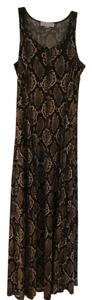 Snake print - Olive green/brown/beige Maxi Dress by Michael Kors