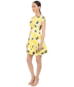 Kate Spade short dress Yellow Black Daisy on Tradesy