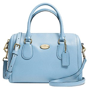Coach Leather Satchel in Pale blue