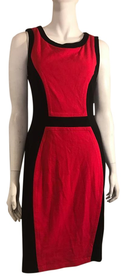Red And Black Above Knee Casual Maxi Dress Size 6 S Tradesy