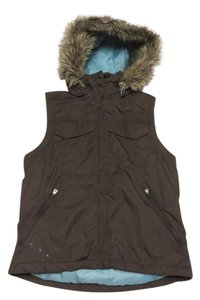 Columbia Sportswear Company Down Feather Down Faux Fur Vest