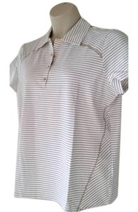 Chico's Zenergy Golf T Shirt Gold/white
