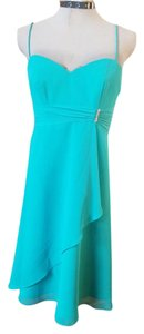 Alfred Angelo Cocktail Formal Chiffon Green Dress