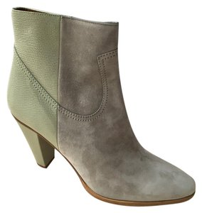 Chloé Suede Leather Ankle Chalk Dark Chalk Boots