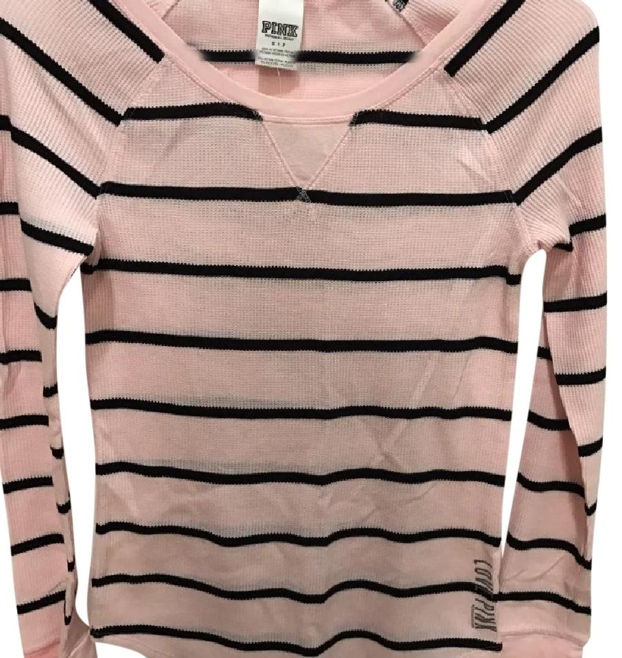 382255feac2 Victoria's Secret Pink Striped Long Sleeve Thermal Sleep Small Tee Shirt  Size 4 (S)