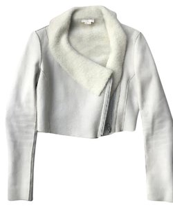 Helmut Lang Alexander Wang Rag & Bone Dvf White Leather Jacket