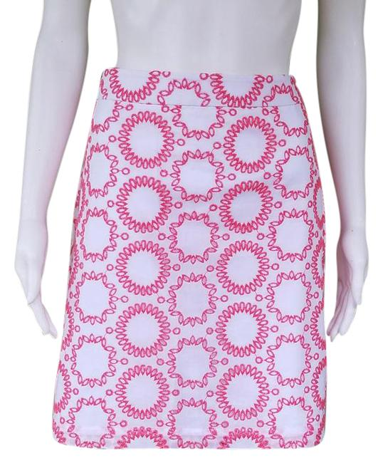 Item - White and Coral Milly For Eyelet Cotton Skirt Size 4 (S, 27)