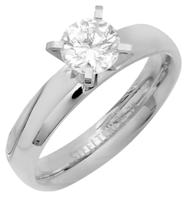 Stainless Steel/ Silver ** ** Solitare ( 2.04 Ct Ring Stainless Steel/ Silver ** ** Solitare ( 2.04 Ct Ring Image 1