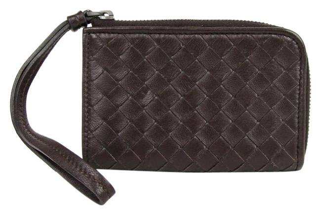 Bottega Veneta Brown Woven Leather Wristlet Coin Purse 244825 2040 Wallet Bottega Veneta Brown Woven Leather Wristlet Coin Purse 244825 2040 Wallet Image 1