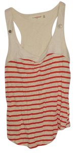 Anthropologie Top white and orange