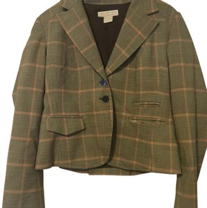 MICHAEL Michael Kors Brown Plaid Blazer