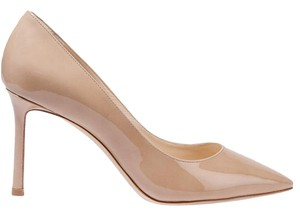 Jimmy Choo Suede Black Romy nude Pumps