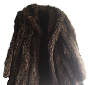 Vintage Raccoon Fur Swing Coat Fur Coat