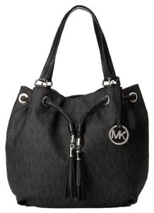 Michael Kors Jet Set Ns Large Gathered Handbag Tote in Black
