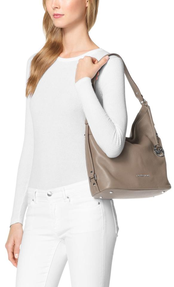 369f643c5d50 ... hot michael kors bedford belted large shoulder cinder leather hobo bag  84797 8fd1e ...