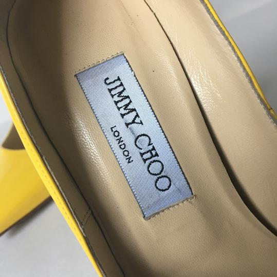 Jimmy Choo Chanel So Kate Stiletto Yellow Pumps