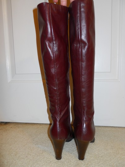Joyce of California Vintage Leather burgandy Boots