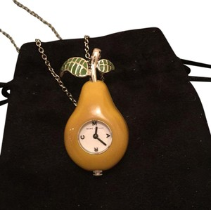 Marc by Marc Jacobs Pear Clock Necklace