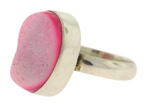 Other SandBlasted Pink Acrylic Ring- Sterling Silver