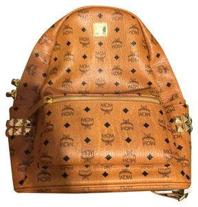 MCM Tan Leather Backpack