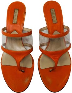 Michael Kors orange Mules