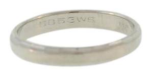 Other Antique 70s Hammered Wedding Band- 14k White Gold