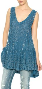 Free People Printed Sleeveless Tunic