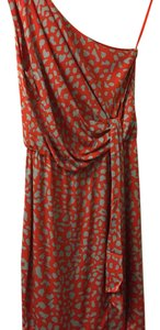 Diane von Furstenberg short dress Orange and blue on Tradesy