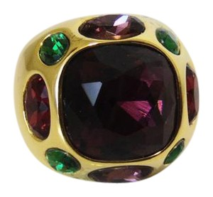 Real Collectibles by Adrienne Real Collectibles Multicolor Jeweled Dome Ring 9