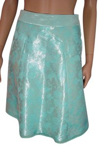 Marc Jacobs Size 2 Silk Skirt Blue with Silver Sheen